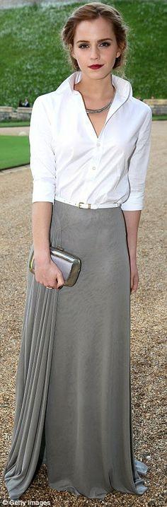 Emma Watson in Ralph Lauren ~ The Royal Marsden Dinner, Windsor Castle, May 2014