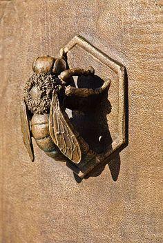 Bee Gate bee knee, the doors, door knockers, bee door, bee gate, garden gates, door handles