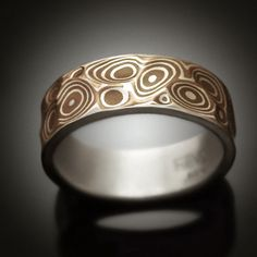 Mokume gane Men's ring  Copper Canyon  Argenitum silver by Revonav, $290.00
