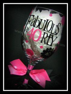 Birthday Wine Glasses by PolkaDotGiftShoppe on Etsy, $16.99