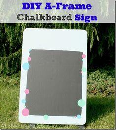 diy a-frame chalkboard sign