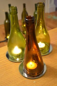 Top of bottles. Good for not starting fired with tea lights.