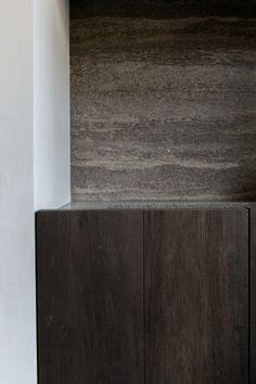 Beautiful combination of materials by Benoit Viaene. benoit viaene, dark wood