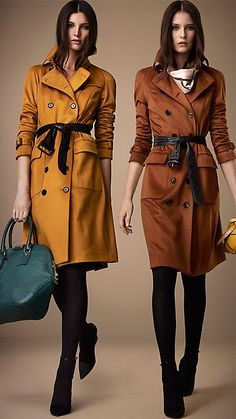 Burberry London Long Cashmere Trench Coat