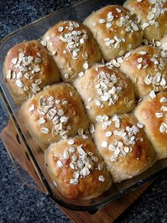 Oatmeal honey whole wheat rolls.