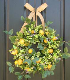 summer wreath on my front door