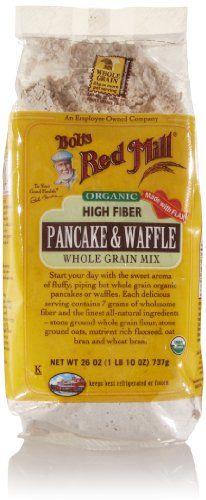 Bob's Red Mill Organic High Fiber Whole Grain Pancake & Waffle Mix, 2...