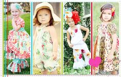 create kids couture - lovely patterns!