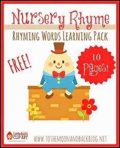 FREE Nursery Rhyme Rhyming Words Pack
