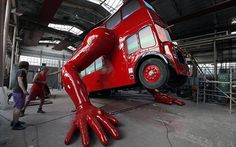 Artist Creates A London Bus Capable Of Doing 'Push-Ups' For The Olympics