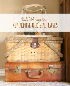 decor inspir, fun craft, old suitcases, hous idea, busi bag, craft idea, diy project, place, bags