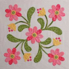 Miss Kay Mackenzie  applique block - love the colors