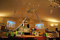 Colossial Coaster World VBS 2013.  The Sanctuary fille with all the roller coasters and fun ferris wheel!