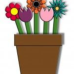 Free Printable Spring Flower Craft for kids