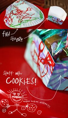 Aunt Peaches: Gift Wrap Challenge: Paper Plate Cookie Basket