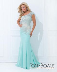 Tony Bowls One Shoulder Mermaid Pageant Gown style TBE11439
