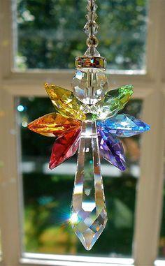 Hope Angel Swarovski Crystal Suncatcher