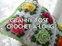 Crochet-a-long, Granny Rose Pillow  First Day beginning on March 20, 2012