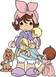 precious moments mama niños