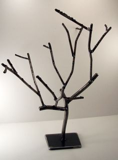 Living Steel Jewelry Tree by TimothyAdamDesigns on Etsy, $95.00