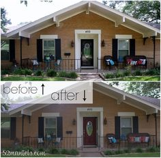 A New Red Door ( Front Porch Inspiration)