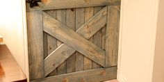 DIY:: Barn Door Baby Gate- Perfect for Stairs ! (Also Perfect Pet Gate)