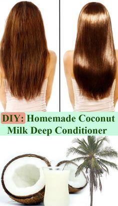 homemad coconut, coconut milk conditioner diy