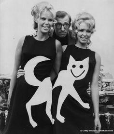 twin, cats meow, fashion, dresses, woodi allen, 60s, cat woodyallen, woody allen, cat lady