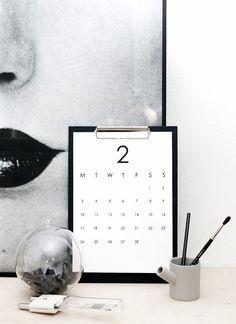 RK Design - 2014 Calendar (Printable)