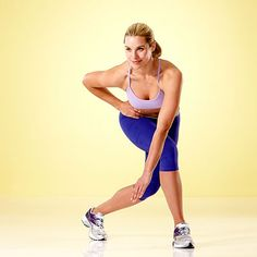 Curtsy Lunge (Works hips, butt, quadriceps, hamstrings, abs) | Health.com