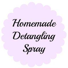 Homemade Detangling Spray - Smockity Frocks