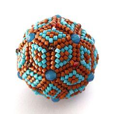 Brick Stitch Geometric Beaded Beads - image copyright © Jean Power