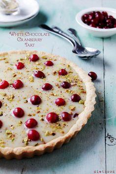 White Chocolate Cranberry Tart. #winterfeastival