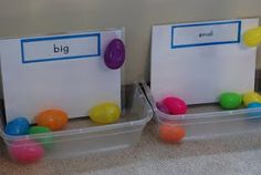 Things to do with plastic eggs-great ideas!