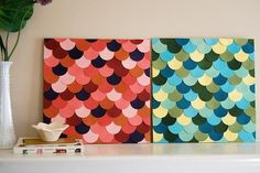 Home : DIY scallop wall art