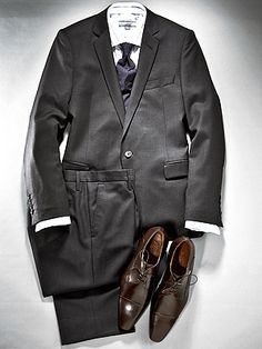 """Mens Holiday Attire - Holiday Party if the invite reads """"cocktail attire"""" wear a killer suit!  If your boss ditches the tie, feel free to follow suit."""