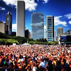 Lollapalooza in Chicago. Amazing summer music festival