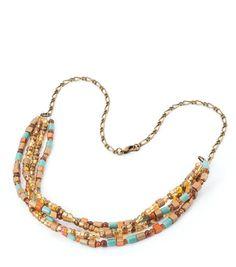 #DIY Beaded Aztec Necklace