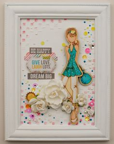 Julie Nutting Wood Doll Canvas... - Scrapbook.com - Made with Prima stamps and supplies.