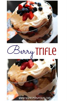 This berry trifle is