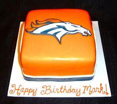 Denver Broncos Cake — Football / NFL cake idea, bronco parti, bronco fan, birthday idea, denver broncos cakes, bronco cake, bday board, 26th bday, birthday cake