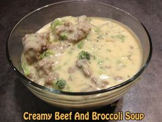 Easy Creamy Beef and Broccoli #Soup #recipe