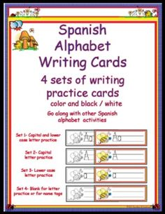 Spanish Alphabet Writing Cards $4.95
