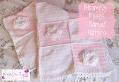 Knot Your Nana's Crochet: Blooming Roses Crochet Baby Blanket