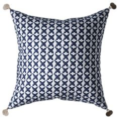 Nate Berkus for Target Blue Patterned Pillow $25
