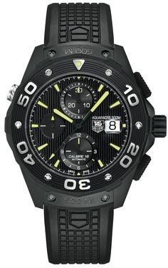 #tagheuer Aquaracer 500m Chronograph Full Black