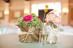 Vintage billy button, mason jar center piece Stephie Joy Photography : Jacksonville and St. Augustine Florida Wedding and Lifestyle Photography » Jacksonville and St. Augustine Florida ...