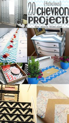 Main Ingredient Monday- 20 Chevron Paint Tape Ideas #chevron #tape