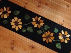 Sunflower Wool Applique Table Runner Pattern
