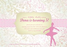 Dance Birthday Invitation by LindsayJayeDesign
